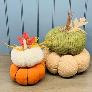 *Cloth Pumpkin 🎃 2 Towers Fall Fabric Decorations